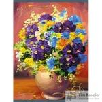 Тетрадь общая Живопись и цветы А4 96 листов в клетку на скрепке
