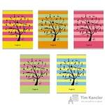 Тетрадь общая Чудо-дерево А5 48 листов в клетку на скрепке (обложка в ассортименте)