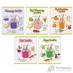 Тетрадь общая Модные рецепты А5 48 листов в клетку на скрепке (обложка в ассортименте)