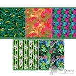 Тетрадь общая Таинственные джунгли А5 48 листов в клетку на скрепке (обложка в ассортименте)