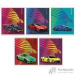 Тетрадь общая Мечта гонщика А5 48 листов в клетку на скрепке (обложка в ассортименте)