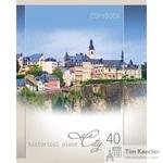 Тетрадь общая Летний городской пейзаж А5 40 листов в клетку на скрепке (обложка в ассортименте)