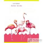 Тетрадь общая Фламинго и узоры А5 48 листов в клетку на скрепке (обложка в ассортименте)