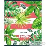 Тетрадь общая Тропические растения А5 48 листов в клетку на скрепке (обложка в ассортименте)