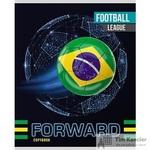 Тетрадь общая Мировой футбол А5 48 листов в клетку на скрепке (обложка в ассортименте)