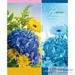 Тетрадь общая Романтические цветы А5 96 листов в клетку на скрепке (обложка в ассортименте)