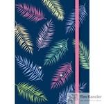 Блокнот Апплика Тропические листья A6 80 листов цветная в клетку на сшивке (100x140)