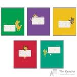Тетрадь школьная Канц-Эксмо Забавные звери А5 12 листов в клетку (обложка в ассортименте)