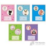 Тетрадь школьная Канц-Эксмо Любимые ушастики А5 18 листов в клетку (обложка в ассортименте)