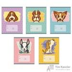 Тетрадь школьная Канц-Эксмо Собачье счастье А5 18 листов в линейку (обложка в ассортименте)