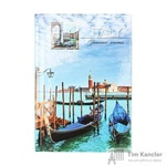 Бизнес-тетрадь Проф-пресс Венецианские гондолы A6 96 цветная листов в клетку на склейке (150x105x9)