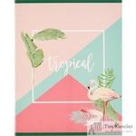 Тетрадь общая №1School Tropical А5 60 листов в клетку на скрепке