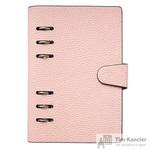 Бизнес-тетрадь Infolio Study Dune А5- 80 листов розовый в клетку на кольцах (135х190)