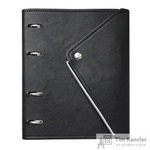 Бизнес-тетрадь Infolio Study Grunge А5 120 листов черная в клетку на кольцах (180х212)