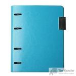 Обложка на кольцах для сменных блоков Infolio Study Elegance А5 синяя (175х212)