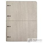 Бизнес-тетрадь Infolio Study Wood А4 120 листов серая в клетку на кольцах (240х310)