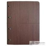 Бизнес-тетрадь Infolio Study Wood А4 120 листов коричневая в клетку на кольцах (240х310)