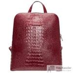 Рюкзак женский Fabula из натуральной кожи бордового цвета (S.407.KM)