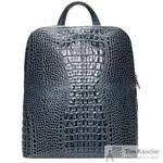 Рюкзак женский Fabula из натуральной кожи синего цвета (S.407.KM)