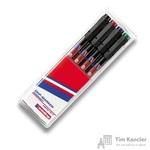 Набор маркеров для пленок и глянцевых поверхностей Edding E-141 F/4 4 цвета (толщина линии 0.6 мм)
