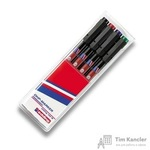 Набор маркеров для пленок и глянцевых поверхностей Edding E-142 М/4 4 цвета (толщина линии 1 мм)
