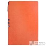 Бизнес-тетрадь Attache Light Book  A5 112 листов оранжевый в линейку на сшивке (140x202)