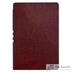 Бизнес-тетрадь Attache Light Book  A5 112 листов бордовый в линейку на сшивке (140x202)