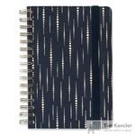 Блокнот Escalada Софт-тач A5 96 листов темно-синий в клетку и в линейку на евроспирали (146x211 мм)