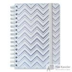 Блокнот Escalada Софт-тач A5 96 листов серебряный в клетку и в линейку на евроспирали (146x211 мм)