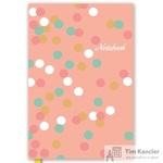 Блокнот Escalada Цветные горшки A5+ 144 листа розовый в линейку на сшивке (165x245 мм)