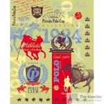 Тетрадь общая Polo Club А5 48 листов в клетку на скрепке (обложка в ассортименте)