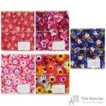 Тетрадь школьная Альт Цветы. Паттерн А5 18 листов в клетку (обложка в ассортименте)