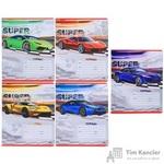 Тетрадь школьная Проф-пресс Яркие суперкары А5 18 листов в линейку (обложка в ассортименте)