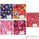 Тетрадь школьная Альт Цветы. Паттерн А5 18 листов в линейку (обложка в ассортименте)