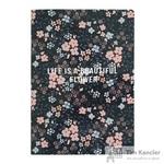 Бизнес-тетрадь Be Smart Camilla А5 48 листов черный в клетку на кольцах  (150x210 мм)
