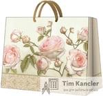 Пакет подарочный PAW Beauty roses, 26,5x33,5x13,0 см