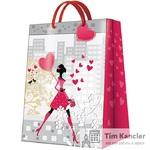Пакет подарочный PAW Walking lady, 41x30x12 см