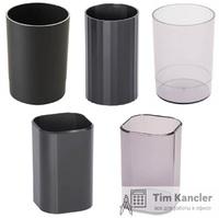 Настольный стаканчик СТАММ, черный, пустой, ассорти