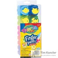 Краски пальчиковые COLORINO со штампами, 10 цветов