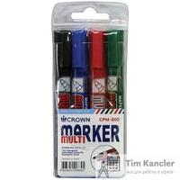Набор маркеров перманентных CROWN Multi Marker, 4 шт.