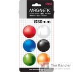 Набор магнитов для досок DELI, 30 мм, 6 шт.