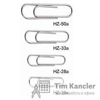 Скрепки KW-TRIO оцинкованные закругленные, 26 мм, 100 шт.