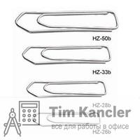 Скрепки KW-TRIO оцинкованные заостренные, 33 мм, 100 шт.