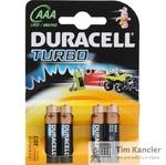Элемент питания DURACELL Turbo, ААА, 1 шт.