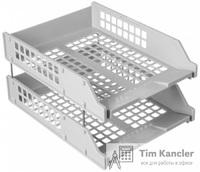 Набор из двух горизонтальных лотков СТАММ, на металлических стержнях
