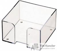 Пластиковый бокс СТАММ для бумажного блока, прозрачный, 9x9x5 см