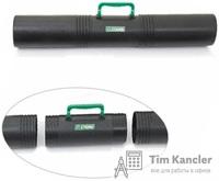 Тубус СТАММ для хранения чертежей, 3-секционный, с ручкой, 10x65 см