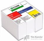 Блок для записей СТАММ PVC, в пластиковом боксе, белый, 8x8x5 см