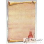Дизайн-бумага DECADRY Свиток с печатью, A4, 1 лист