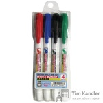 Набор маркеров CROWN WB-505-4, для флипчарта, 4 цвета, 2 мм